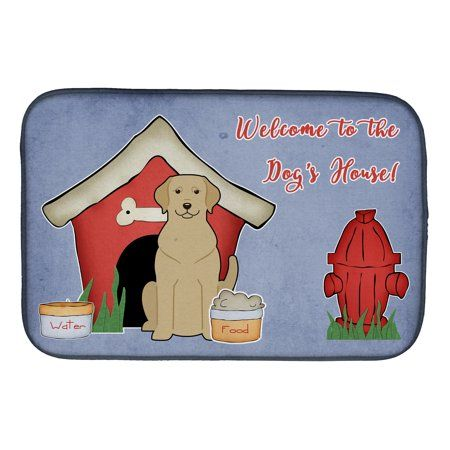 Dog House Collection Yellow Labrador Dish Drying Mat Multicolor Dish Drying Mat Poodle Dogs