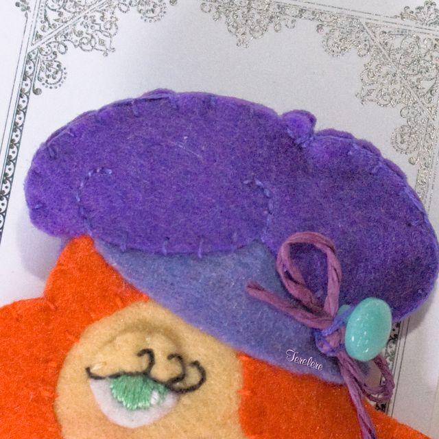 Detalle de broche / Detail of brooch. #broche #brooch #woman #girl #children #chica #mujer #accesorio #accesory #handmade #hechoamano #fet #fieltro