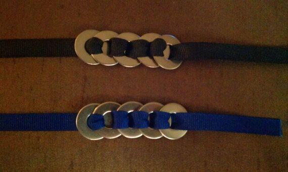 Custom Color  Ribbon and Washer Bracelet by daedaldingo on Etsy, $3.50