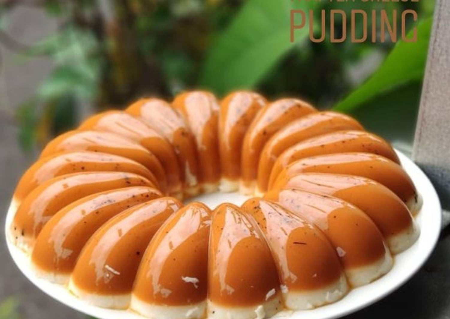 Resep Thai Tea Cheese Pudding Oleh Novi Phiew Resep Puding Keju Puding Resep