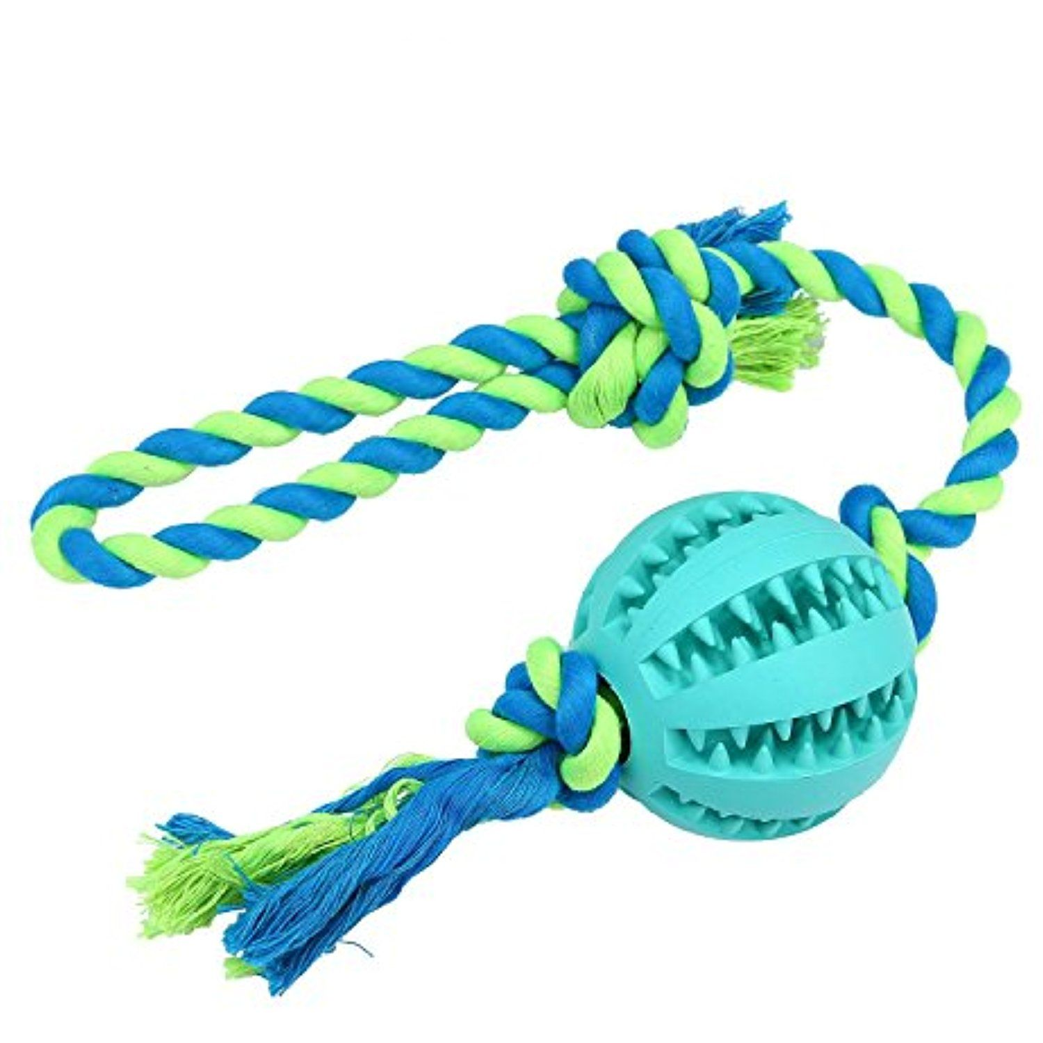 Niceeshop Tm Dog Rope Chew Toys With Ball Indestructible Dental
