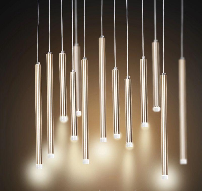 Pendentif Lumiere Seule Lampe Long Bar Design Energy Saving Or Ou