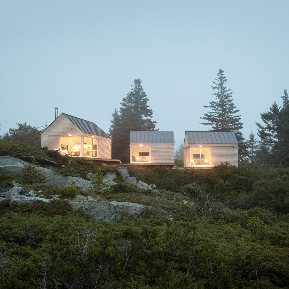 Log Cabin Designs Fryeburg Maine: This Summer House On The Rocky Coastline Of Maine Made Up