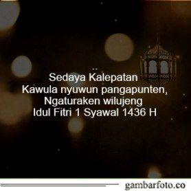 Kata Kata Lebaran Bahasa Jawa