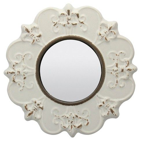 Round Decorative Wall Mirror Off White Ckk Home Decor Mirror Wall