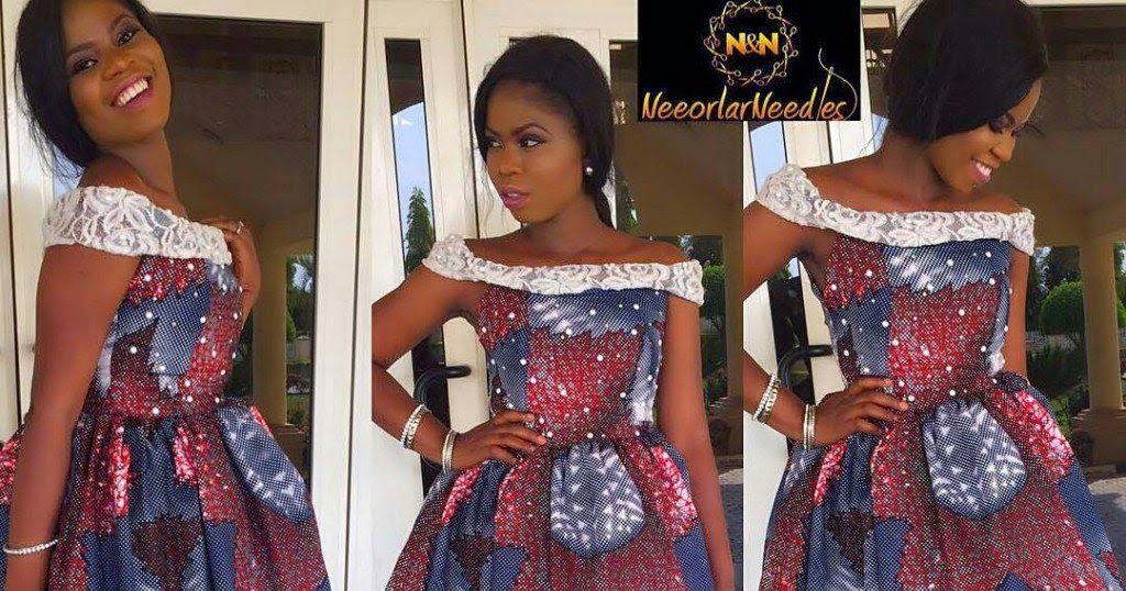 Simple Ankara Styles : Check Out Ladies Ankara Gown Designs