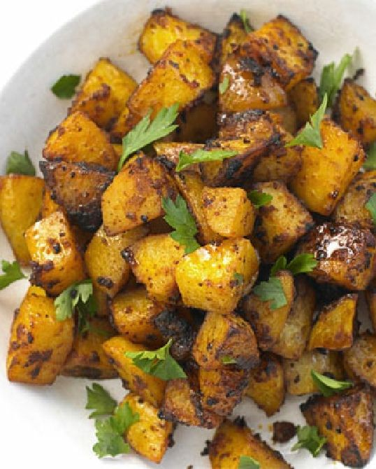 Low FODMAP Recipe and Gluten Free Recipe - Spanish potatoes