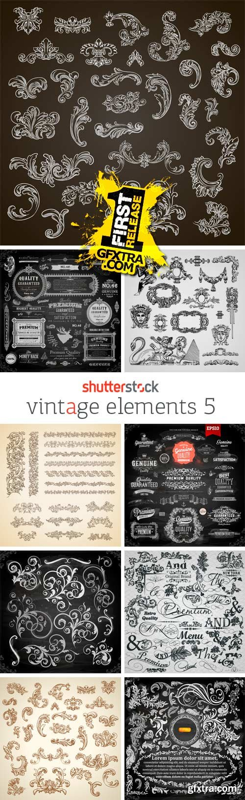 T shirt design 4 25x eps - Amazing Ss Vintage Elements 5 25xeps