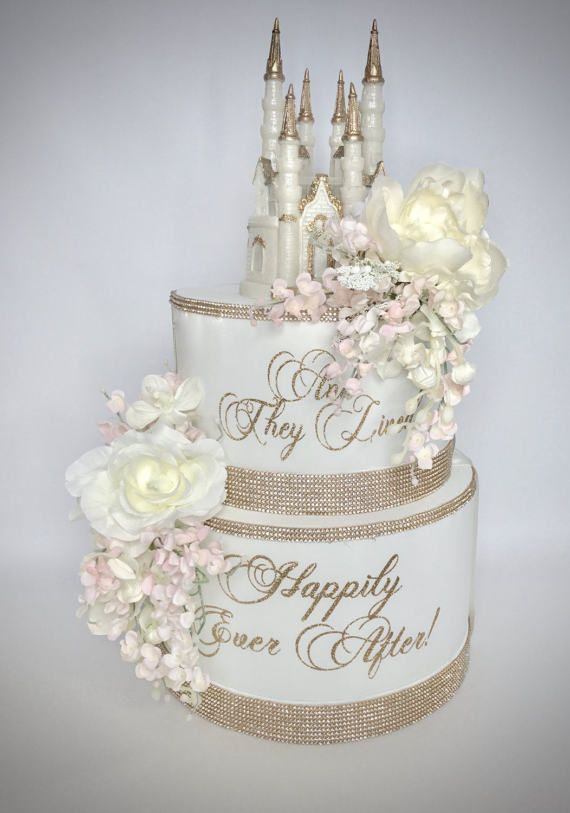 Princess Castle Wedding Money Box Round Monogram Two Tier – Round Wedding Card Box