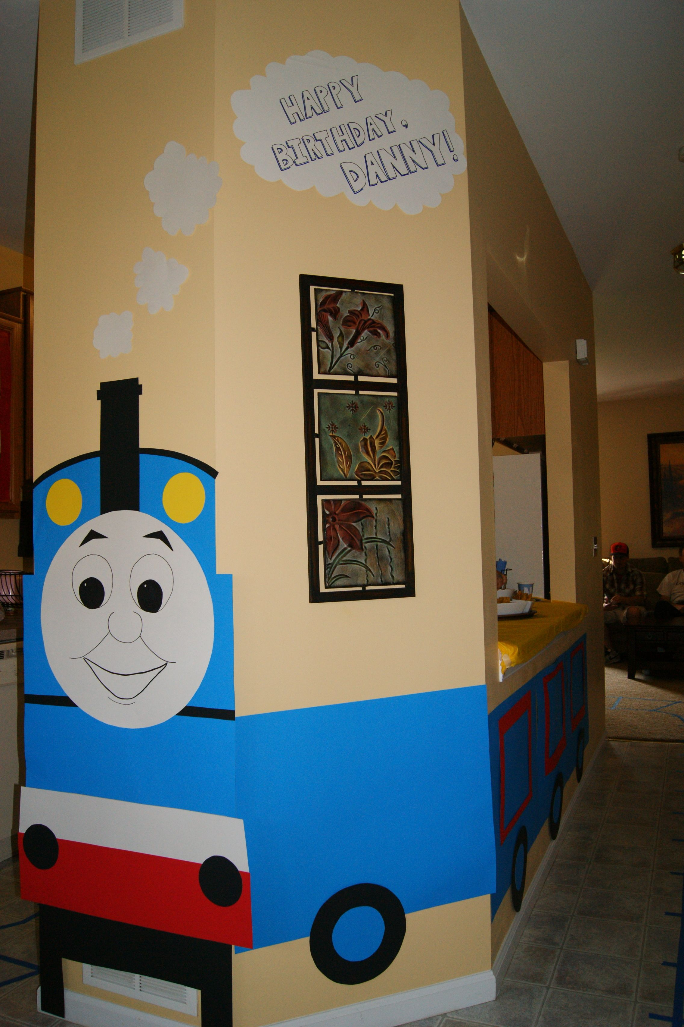Thomas the Train DIY party decoration idea Used poster board from