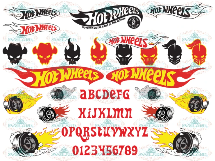 Hot Wheels svg, Hot Rod alphabet, Car Skull Tire Fire Logo