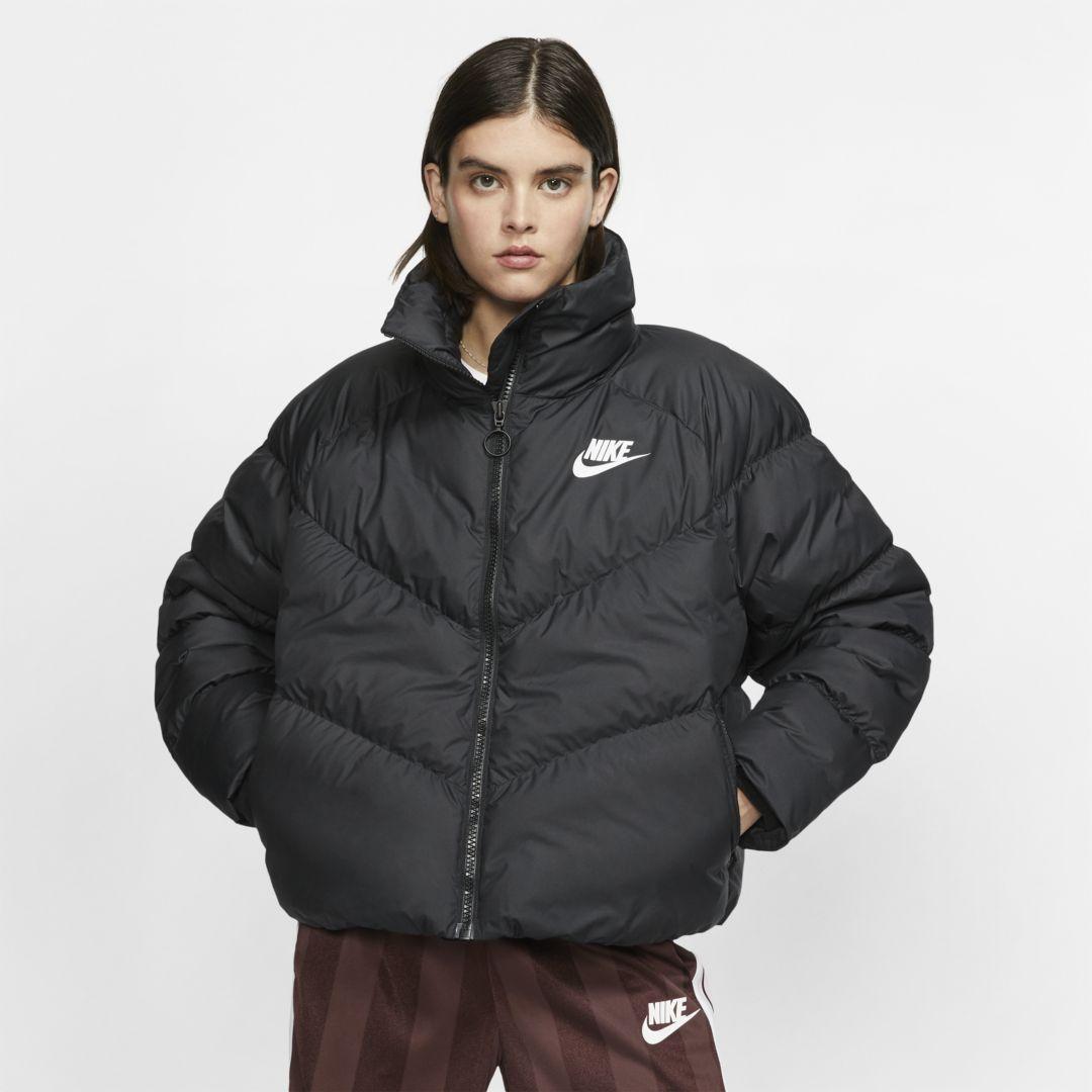 Nike Sportswear Synthetic Fill Women S Jacket Black Nike Sportswear Women Nike Sportswear Jackets For Women [ 1080 x 1080 Pixel ]