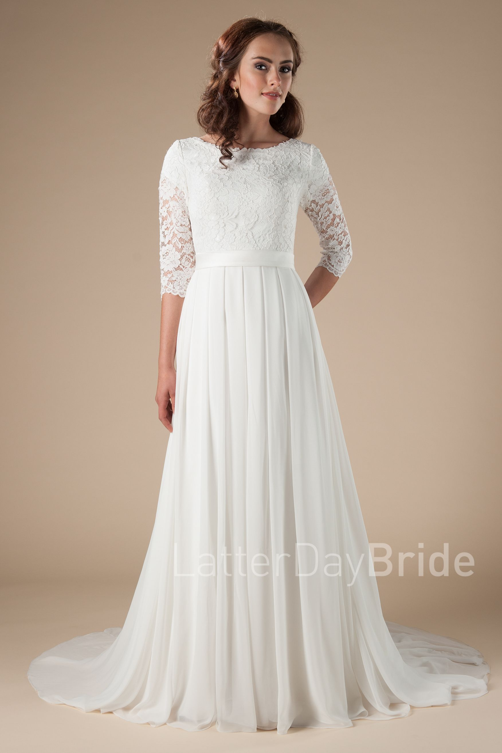 Modest long sleeve wedding gown  Modest Wedding Dresses  Haven  Dream Wedding Inspiration