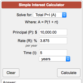 Pin By Karen Goocey On Math In 2020 Simple Interest Interest Calculator Interesting Things