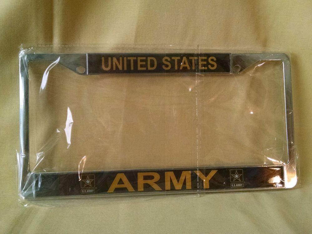Us army license plate frame new sealed officially licensed united ...