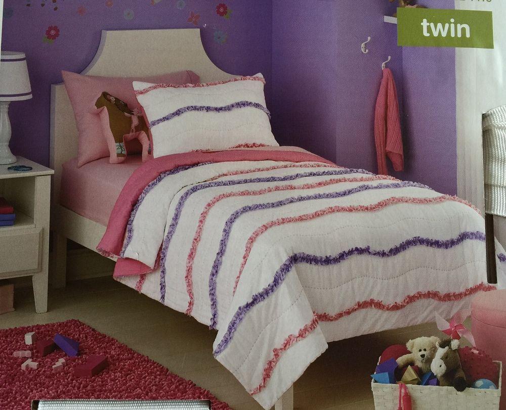 Circo Quilt Bedspread Twin Wave Collection Bedding Girls Pink ... : circo quilt - Adamdwight.com