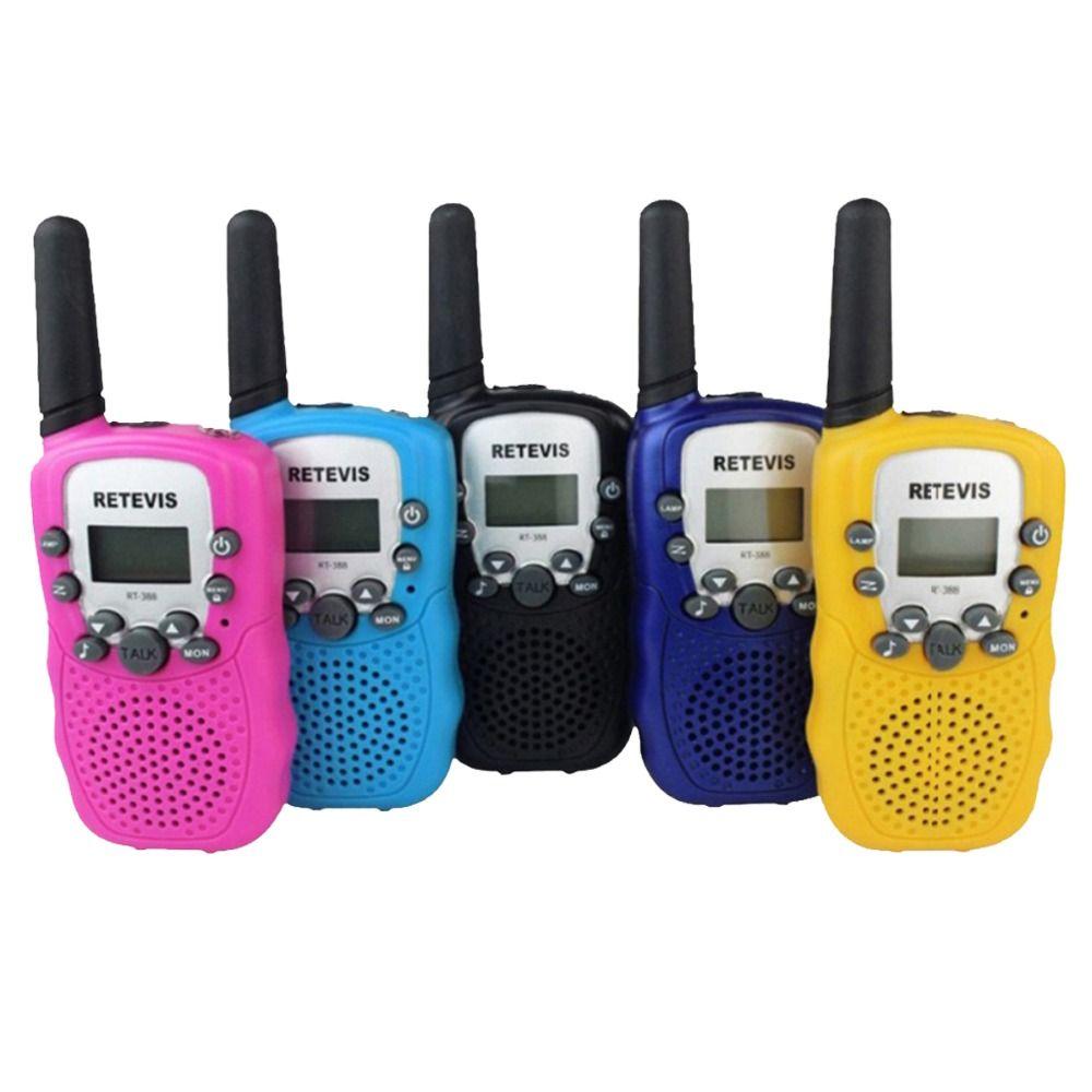 쌍 미니 무전기 어린이 라디오 retevis rt-388 0.5 와트 UHF 446 백만헤르쯔 EU 주파수 휴대용 양방향 라디오 크리스마스 선물 A7027B