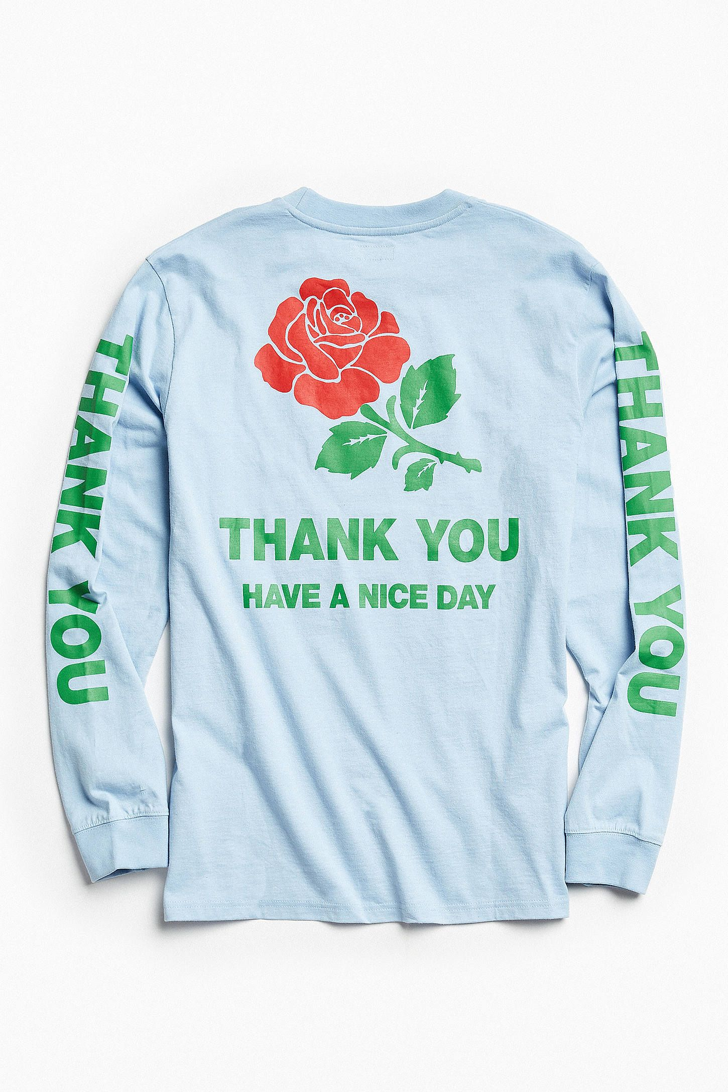 Chinatown Market Thank You Rose Long Sleeve Tee   Long