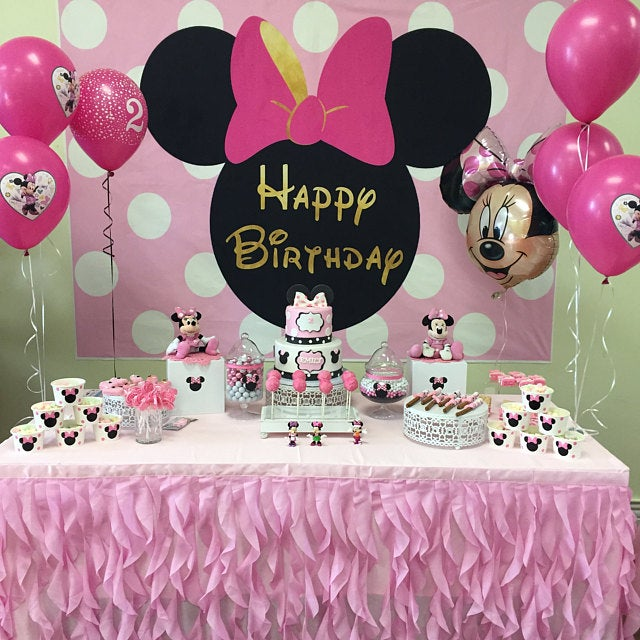 Minnie Mouse Party Snack Cups Minnie Mouse Birthday Party Etsy Minnie Mouse Birthday Party Decorations Minnie Mouse Birthday Decorations Minnie Mouse Birthday Party