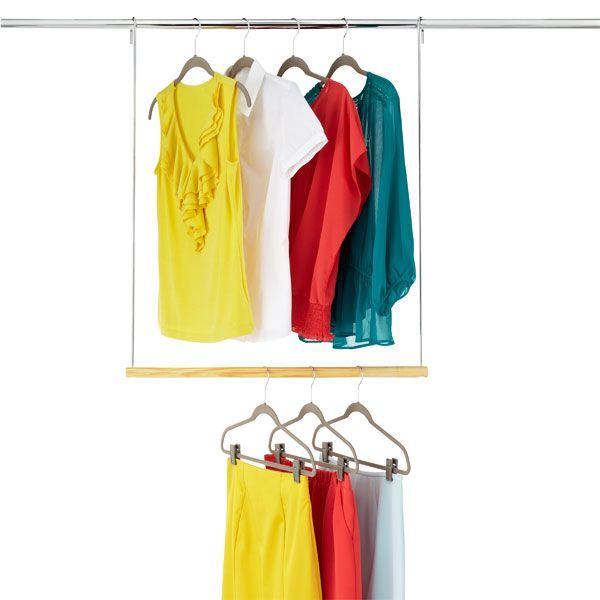 Double Hang Closet Rod| Perfect For Dorm Room, And Adding Extra Space!  Tension