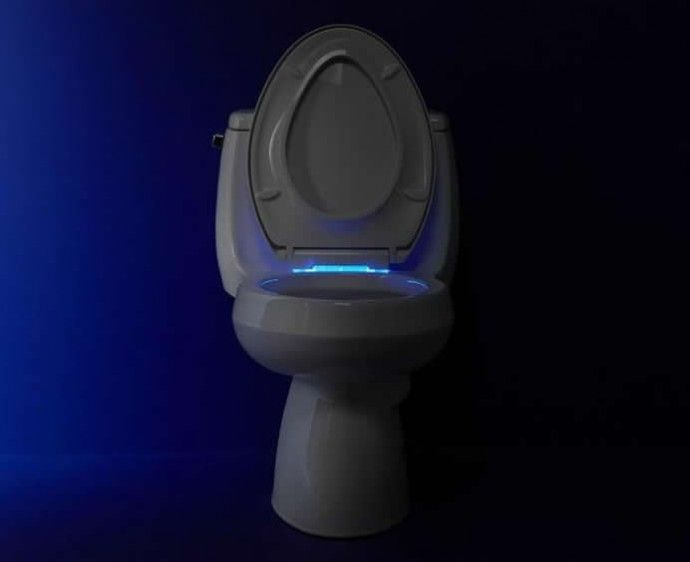 Wondrous Kohler Nightseat Toilet Seat Greets You With Cool Blue Beatyapartments Chair Design Images Beatyapartmentscom