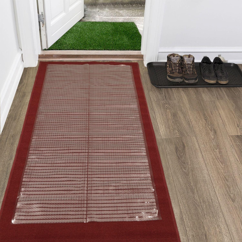 Ottomanson Clear Plastic Runner Rug Multigrip Carpet Protector Mat Vinyl Carpet Protector Rugs On Carpet Rug Runner