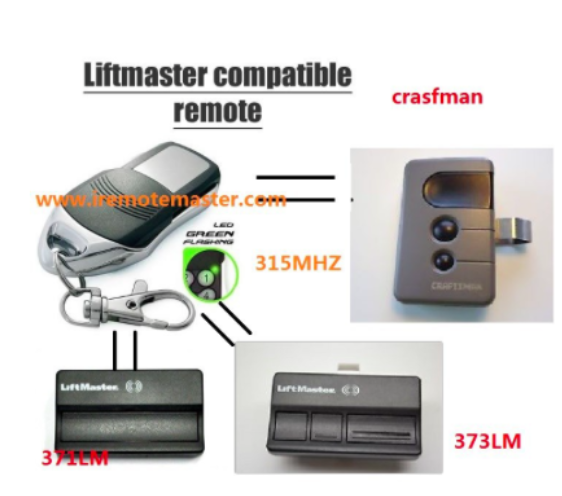 Replacement Remote For Liftmaster 371lm 372lm 373lm Garage Door