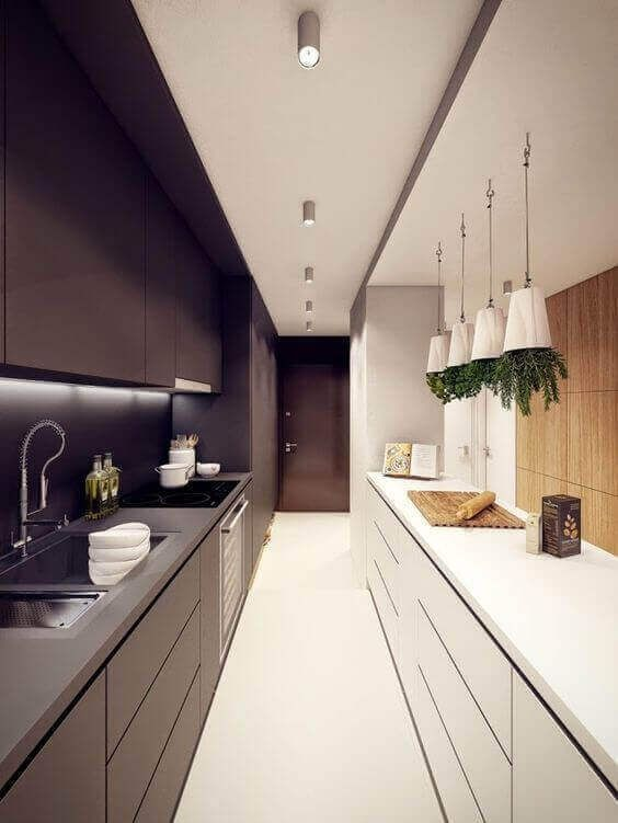 Charmant 33 Long Narrow Kitchen Layout Suggestions | Narrow Kitchen, Kitchens And  Modern Kitchen Designs