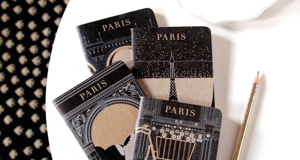 Gorgeous Paris Themed Notebooks Stationery Paper Notebook Office Travel