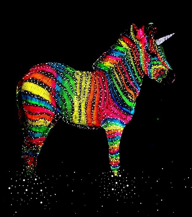 Rainbow Unicorn Color Pop Art   Art   Pinterest   Arcs-En-Ciel