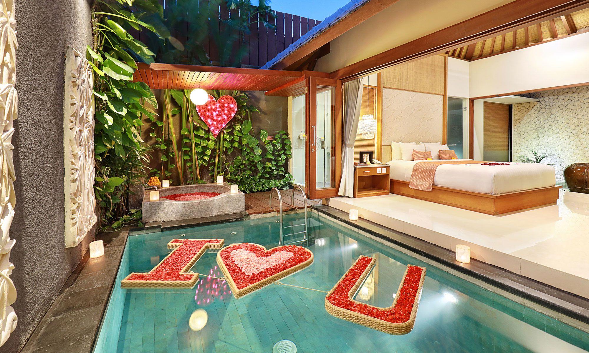 Legian Kriyamaha Villa Honeymoon Villas Honeymoon Bedroom Bali Honeymoon Villas