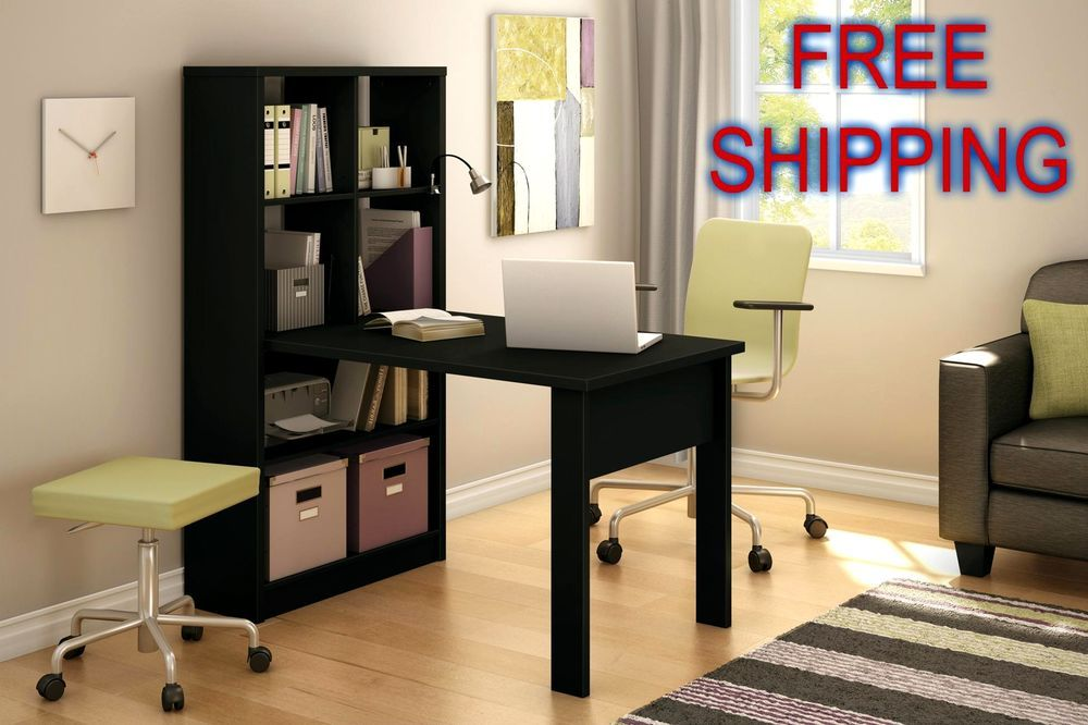 Office Work Table With Storage On Desk Work Table Storage Unit Bookcase Dorm Student Office Room Space Saver southshore