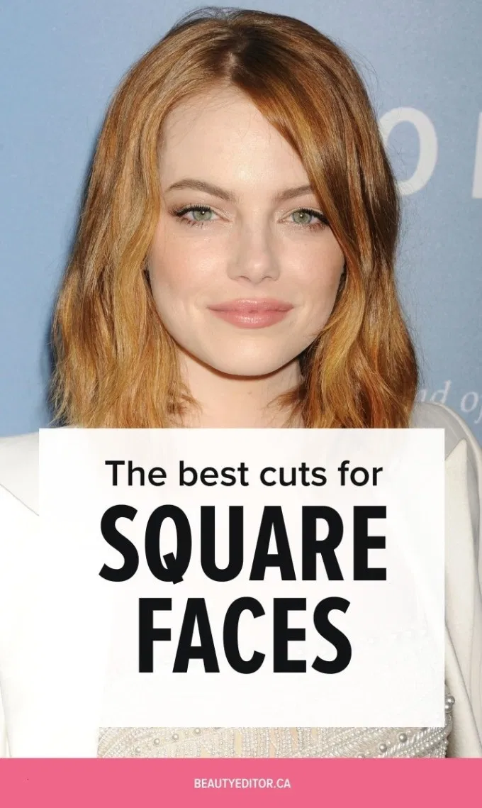 Best Haircut For Square Face Over 50 Wavy Haircut In 2020 Square Face Hairstyles Haircut For Square Face Square Face Short Hair