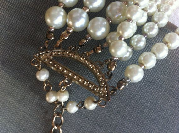 1950's Vintage Multi Strand Pearl Statement by Sweetwhitefarmhouse, $42.00