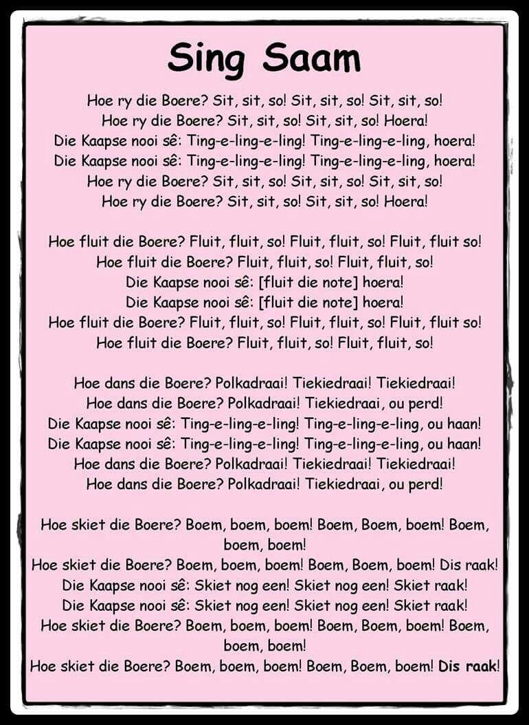 Hoe ry die boere? Kids poems, Kids preschool learning