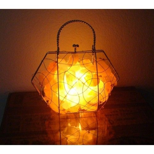 How Does A Himalayan Salt Lamp Work Endearing Himalayan Salt Brifcase Wrought Iron Basket Lamps  Best Himalayan Inspiration Design