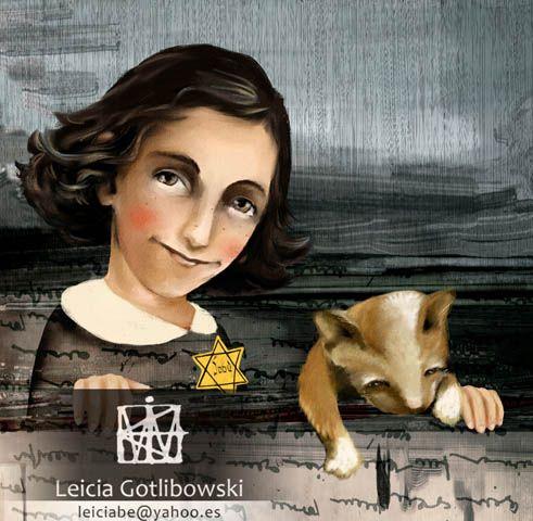 Ilustración De Libros Infantiles Anne Frank Ilustración De Libro Ana Frank