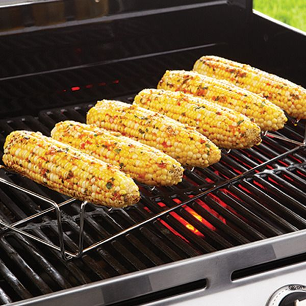 Rack Up The Flavor Tonight! Our BBQ Corn & Skewer Rack