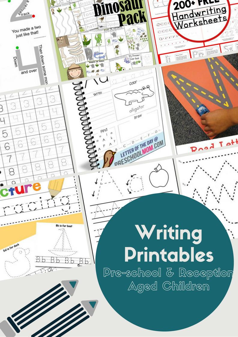 ultimate free writing printables for pre school reception aged children activites for kids. Black Bedroom Furniture Sets. Home Design Ideas