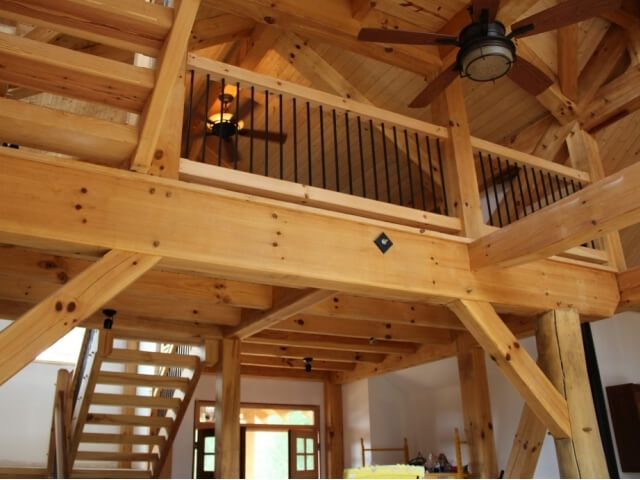 Best Timber Stairs Handrails Interior And Exterior Custom Built By Barn Cabin Loft Loft 400 x 300