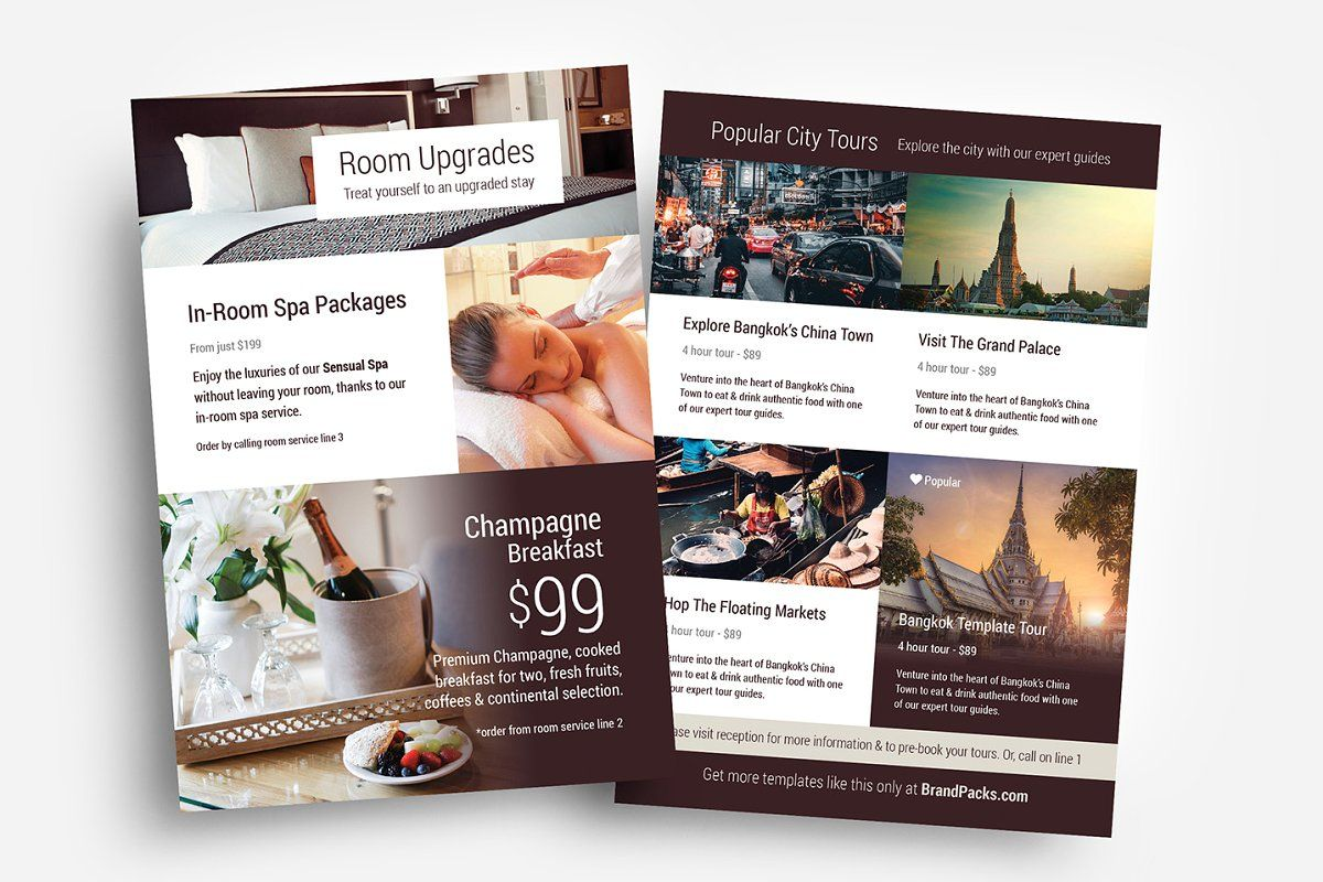 Hotel Templates Trifold Brochure Template Rack Card Templates Brochure Design Template