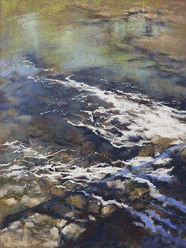 """Water Under the Bridge by Lyn Asselta Pastel ~ 24"""" x 18"""""""