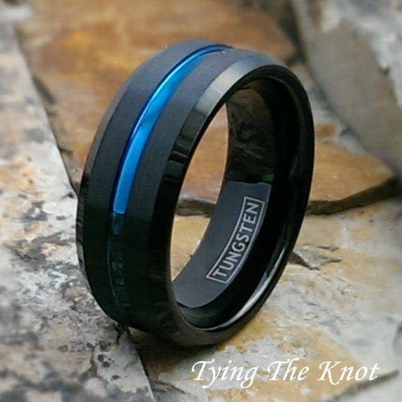 Jewels By Lux Cobalt Polished 8mm Band