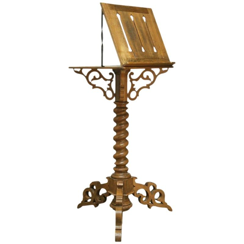 Monumental Italian Carved Oak Lectern Book Stand Book - Italian Sofas Sheffield