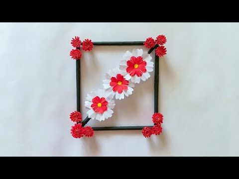 Diy paper flower wall hanging simple and beautiful decoration by kovaicraft youtube also rh pinterest