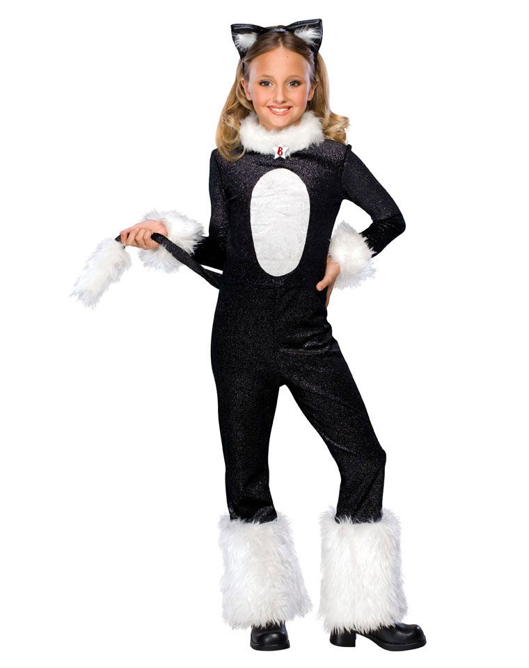White cat costumes for kids girls bratz cat child for Cool halloween costumes for kids girls