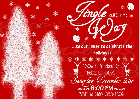 Christmas Party / Holiday Party Invitations