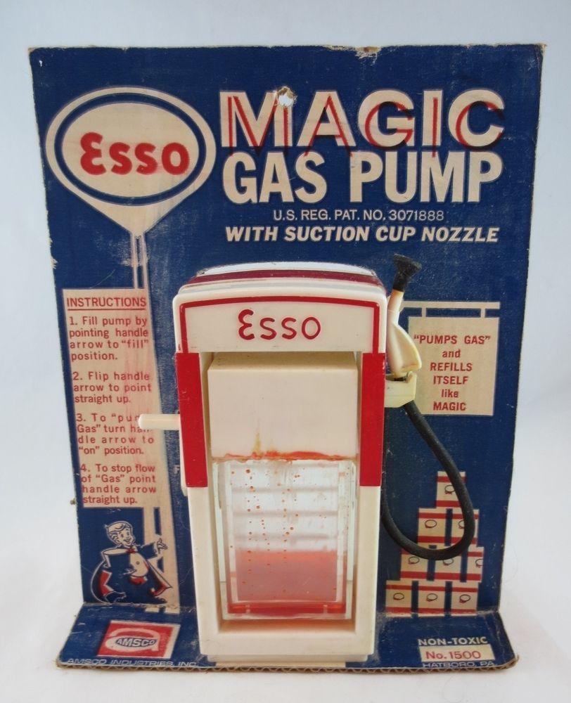 1960's AMSCO Magic Gas Pump Toy W/Original Cardboard