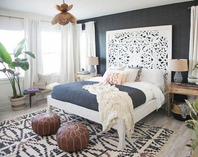 Modern bohemian bedroom decorating ideas interieur