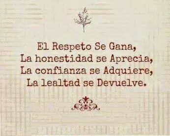 Respeto Honestidad Confianza Lealtad Honestidad Frases Celebres De Sabiduria Frases Sabias